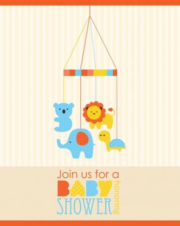 leon bebe: dise?o de tarjeta de baby shower. ilustraci?n vectorial