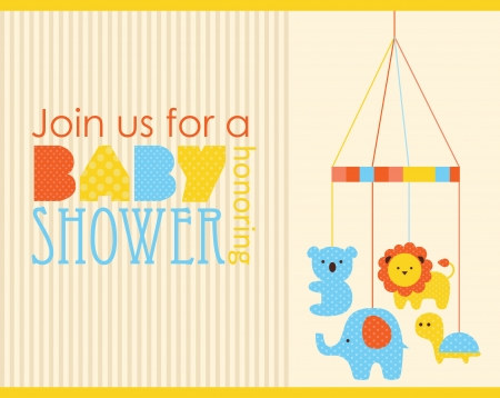 babies and children: baby shower card design. vector illustration