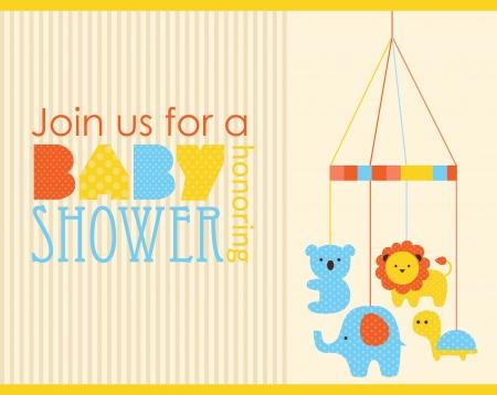 dise?o de tarjeta de baby shower. ilustraci?n vectorial Ilustración de vector