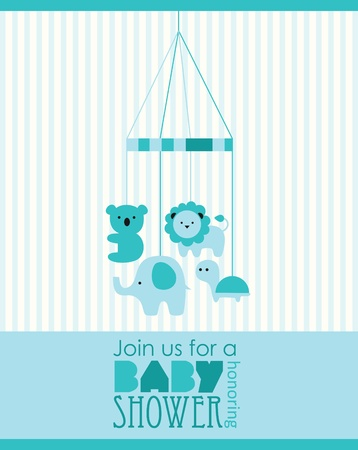 baby announcement: baby boy shower design. vector illustration