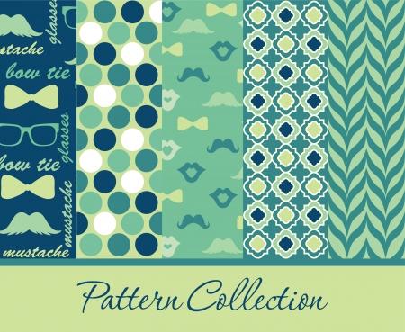 pattern collection design. vector illustration