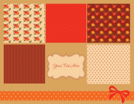 cute pattern collection and frames. vector illustration Vector