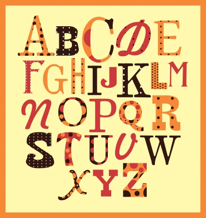 cute alphabet design. vector illustration Vector