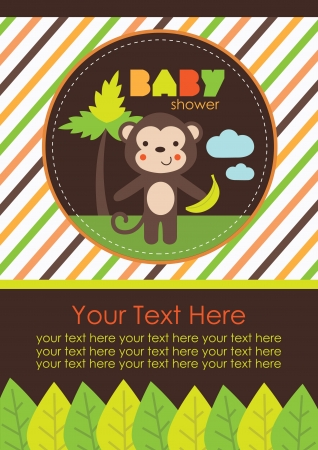 baby boy shower: baby shower design. vector illustration Illustration
