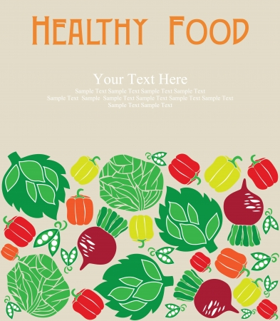 greengrocery: healthy food card design. vector illustration