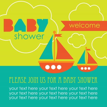 baby shower card design. vector illustration Stock Vector - 20562527