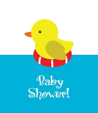 fun baby shower card. vector illustration Vector