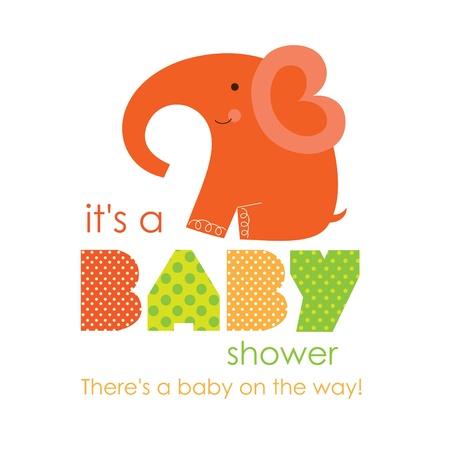 welcome party: ducha del beb� que honra dise�o de la tarjeta. ilustraci�n vectorial