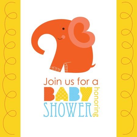 honoring: baby shower honoring card design. vector illustration