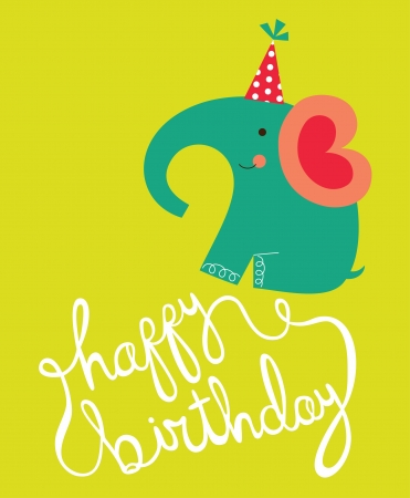 happy birthday card. vector illustration Vector