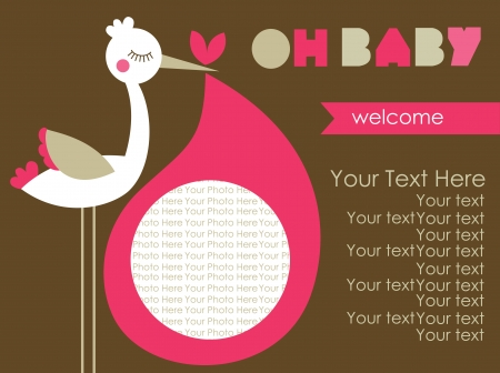 oh baby card design. vector illustration Vector