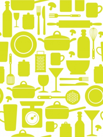seamless kitchen pattern  vector illustration Vector