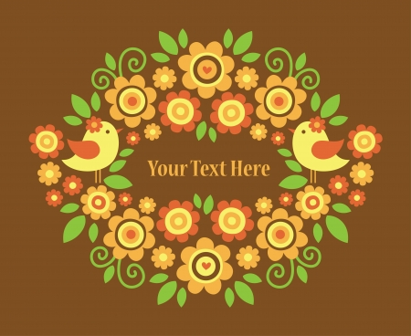 floral greeting card design  vector illustration Stock Vector - 22734193