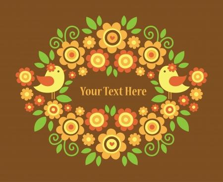 floral greeting card design  vector illustration Stock Vector - 22734193