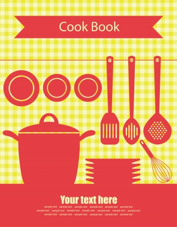 cookery: cookery card  vector illustration