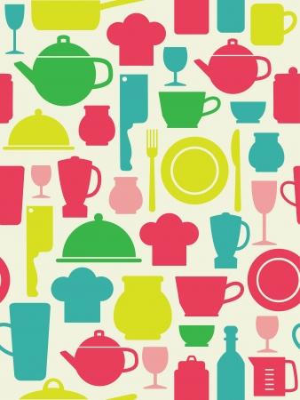 house ware: seamless kitchen pattern  vector illustration