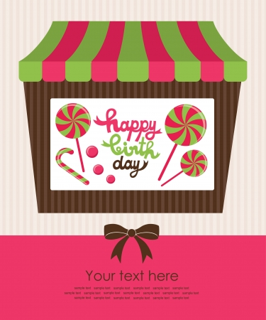 sweet happy birthday card  vector illustration Stock Vector - 22729604