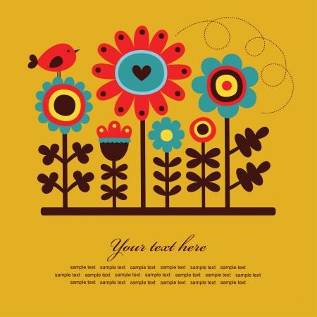 cute greeting card  vector illustration Illustration