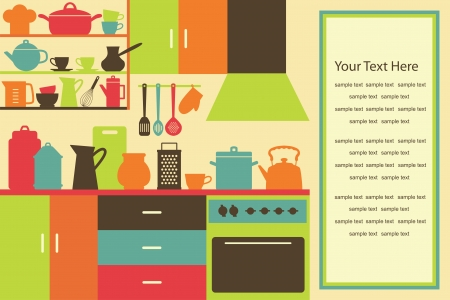 cookbook: cookery card  vector illustration