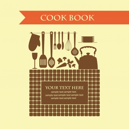 cookery card  vector illustration Vector