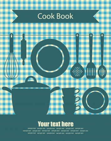cook book: cookery card  vector illustration