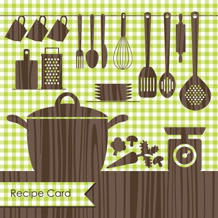 cooking book cover  vector illustration Vector