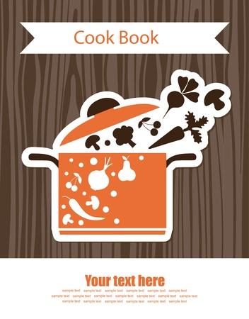 boil: cooking book cover  vector illustration Illustration