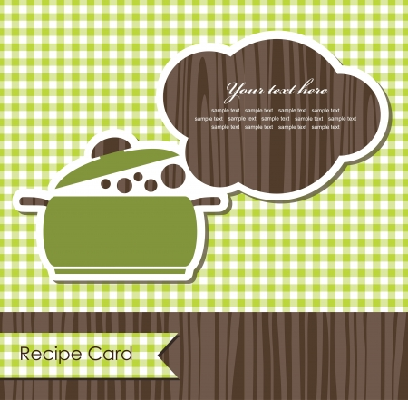 cooking book cover  vector illustration Illustration