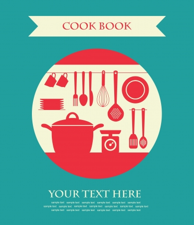 houseware: cookery card  vector illustration