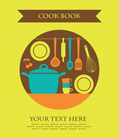 eating utensil: cookery card  vector illustration