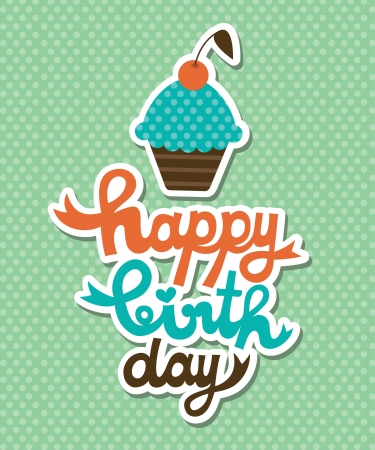 birthday card: happy birthday card  vector illustration