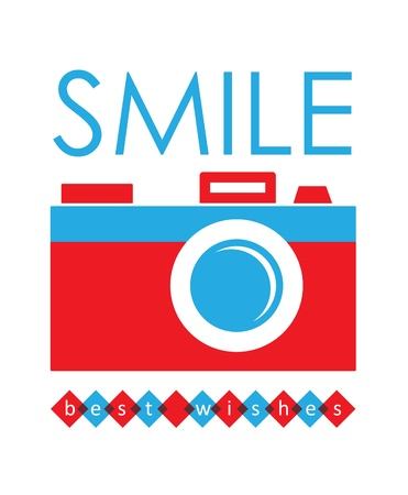 cute card with camera  vector illustration Vector