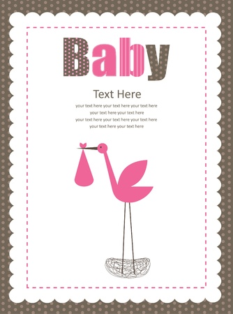 cute baby boy arrival card  vector illustration Illustration