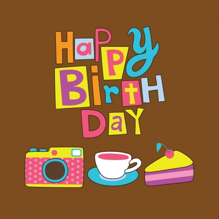 cute card with camera  vector illustration Stock Vector - 22734238