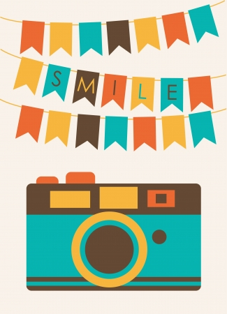 cute card with camera  vector illustration Stock Vector - 22729785