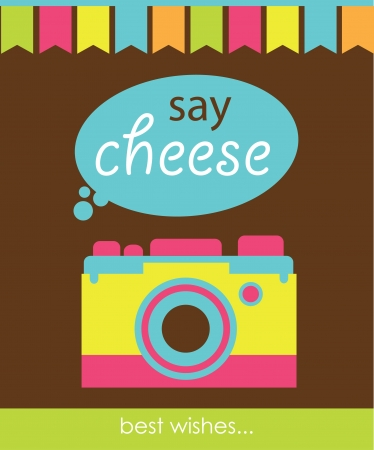 cute card with camera  vector illustration Stock Vector - 22729786