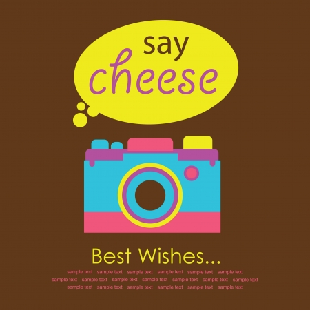 cute card with camera  vector illustration Stock Vector - 22734240