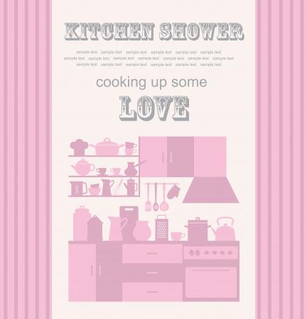 kitchen shower: kitchen shower  vector illustration Illustration