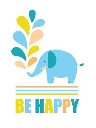 be happy card design.  Stock Vector - 20633234