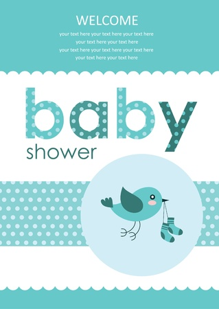 welcome baby card design  vector illustration Иллюстрация