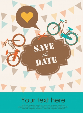 save the date card  vector illustration Vector
