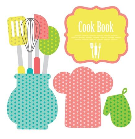 cook book: kitchen shower  vector illustration Illustration