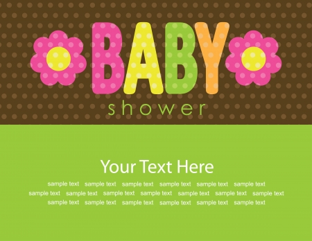 cute baby shower card  vector illustration