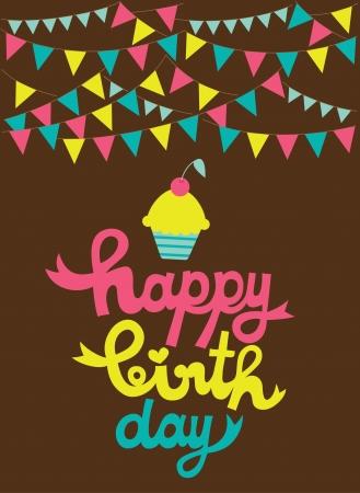 happy holiday card  vector illustration