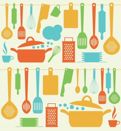 the grater: seamless kitchen pattern.
