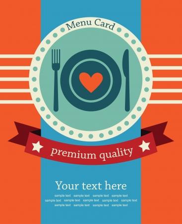 cute menu card  vector illustration Vector