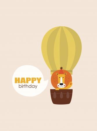 fun happy birthday card.  Vector