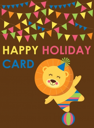cute greeting card  vector illustration Stock Vector - 22734449