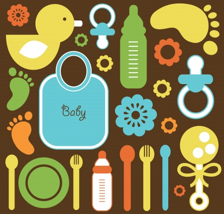 baby seamless pattern.  Vector