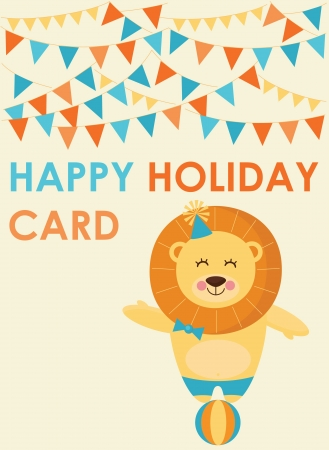 cute greeting card  vector illustration Stock Vector - 22734452